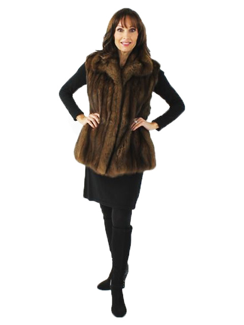 Woman's  Rare Natural Sable Fur Vest