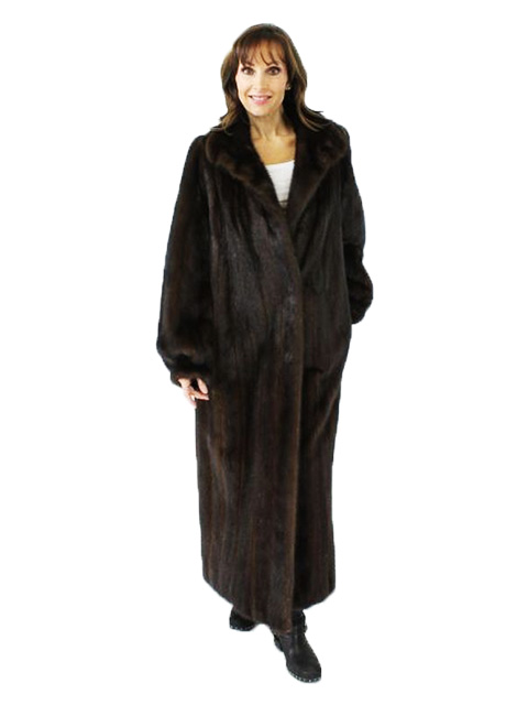 Full Length Ranch Mink Fur Coat Women S Medium 37849