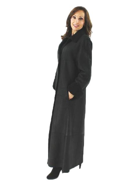 Shearling Coat - Women's Small - Black | Estate Furs