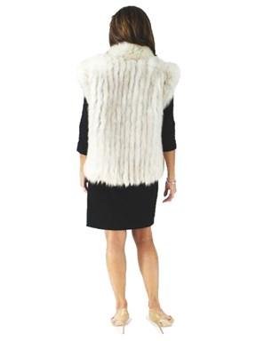 Blue Fox Fur Cord Cut Vest