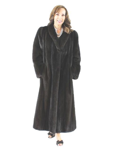 Full Length Ranch Mink Fur Coat Women S Large Estate Furs