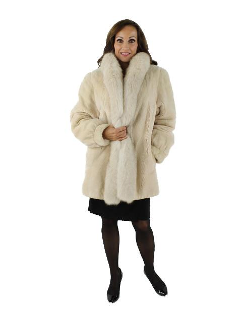 Woman's Sheared Beaver Fur Jacket