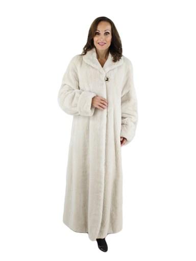White Sheared Beaver Coat