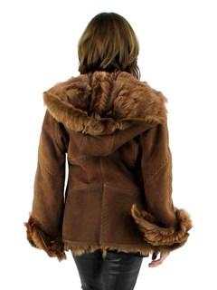 NEW Woman's Brown Shearling Lamb Jacket