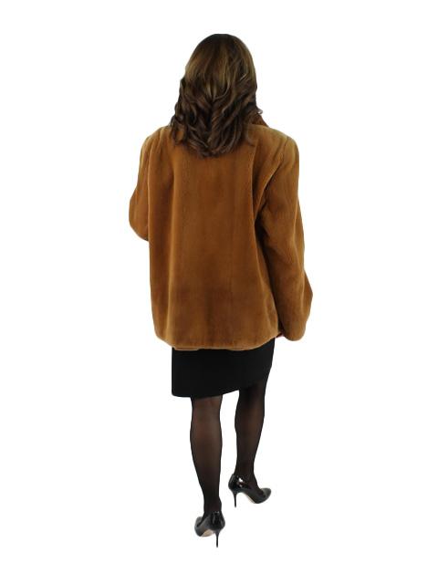 Golden Brown Sheared Mink Jacket