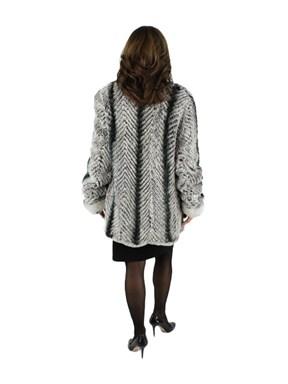 Knitted Rex Fur Stroller