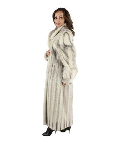 Cross Mink Fur Coat