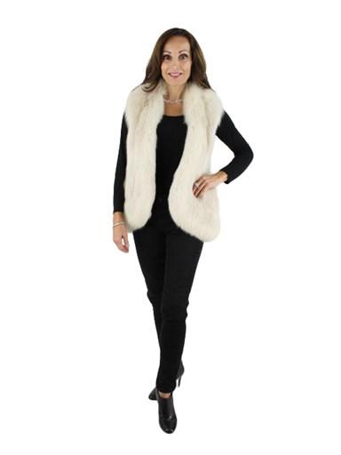 Blush Fox Fur Vest