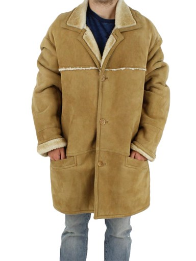 Tipped Shearling Lamb Fur Jacket