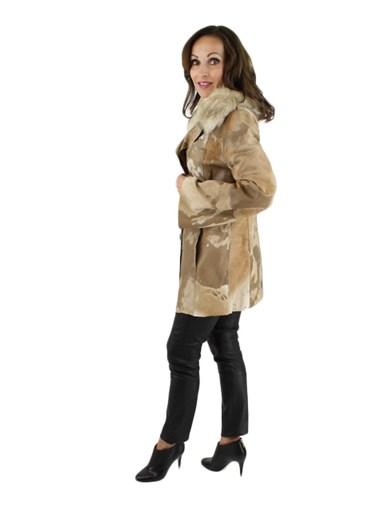 Leather Jacket w/ Raccoon Fur Collar