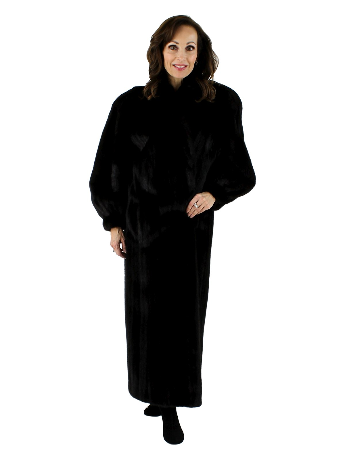 Woman's Stunning Full Length Ranch Mink Fur Coat