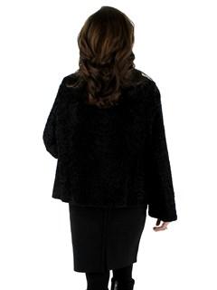 Woman's Vintage Beautiful Black Broadtail Lamb Jacket