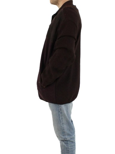 NEW Man's Brown Wool Jacket with Suede Trim