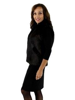 Ebony Long Haired Beaver Fur Vest