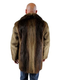 Men's Long Hair Beaver Fur Stroller