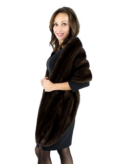 Woman's Mahogany Mink Fur Wrap