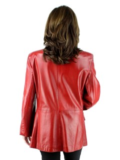 Ultra Soft Lambskin Red Blazer