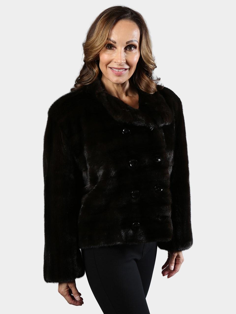 Bob Mackie Double Breasted Female Mink Jacket