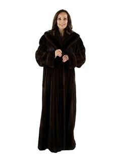 Female Mahogany Mink Coat