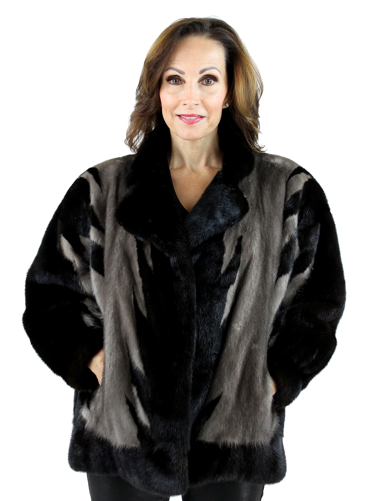 Woman's Ranch and Blue Iris Mink Fur Jacket