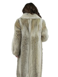 Woman's Coyote Fur Coat with Shadow Fox Trim