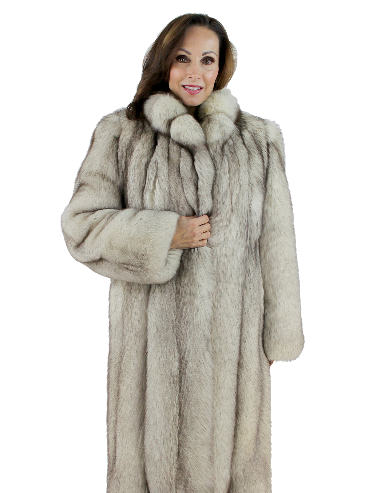 Woman's Blue Fox Fur Coat
