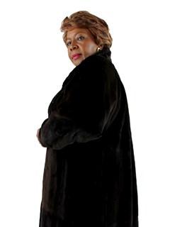 Woman's Mahogany Sheared Mink Fur Coat
