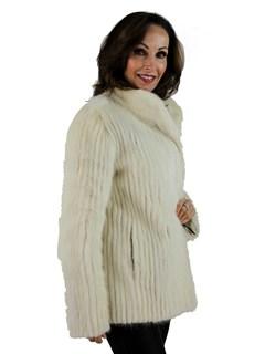 Woman's Tourmaline Mink Cord Cut Fur Jacket