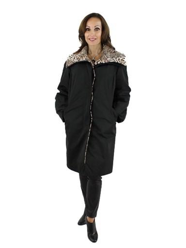 Fabric Stroller w/ Lapin Fur Detachable Liner