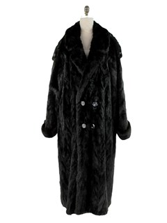 Man's Ranch Mink Double-breasted Fur Section Coat