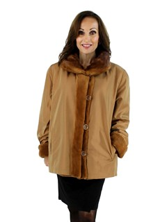 Golden Brown Sheared Mink Jacket