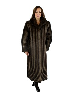 Natural Muskrat Coat