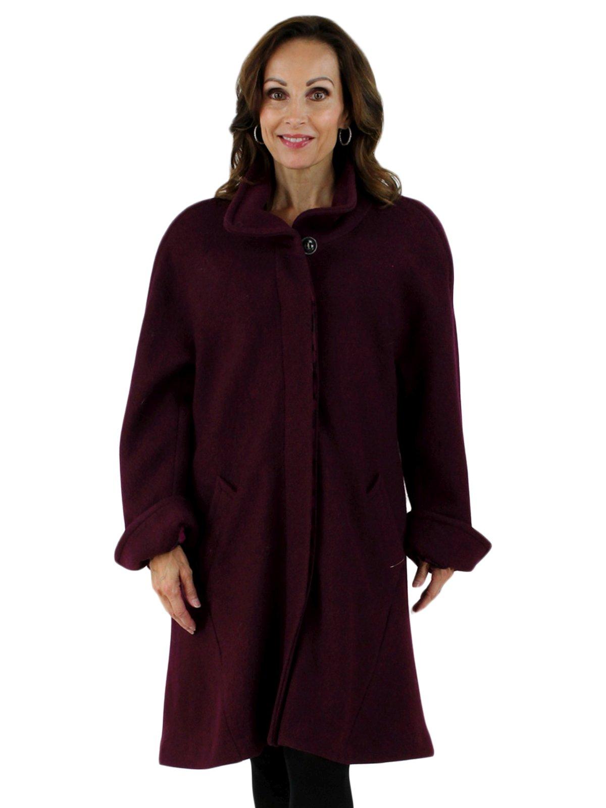 NEW Woman's Wine Cloth Coat