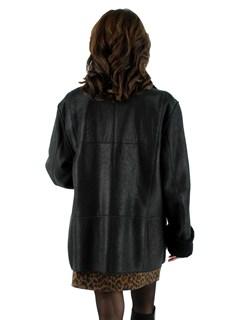 Black Christ Reversible Shearling Lamb Jacket