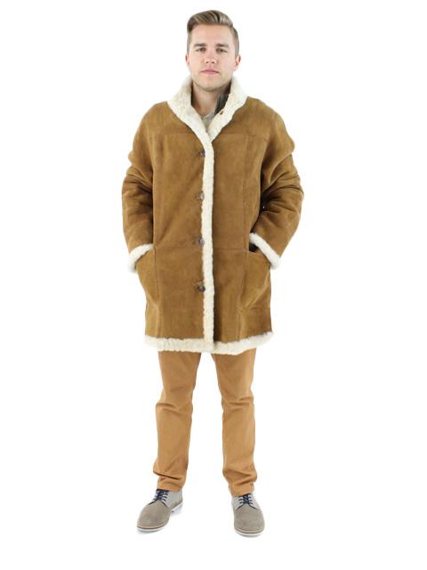 NEW Man's Whiskey Shearling Lamb Jacket