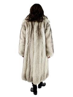 Woman's Cross Fox Fur Coat