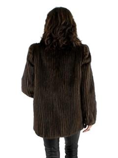 Mahogany Cord Cut Mink Jacket