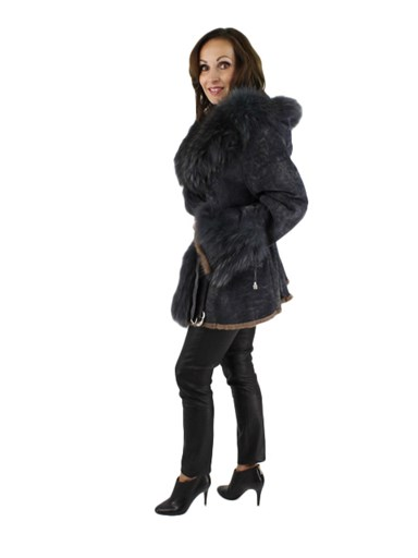 Rex Rabbit Fur w/ Finnish Raccoon Trim Jacket
