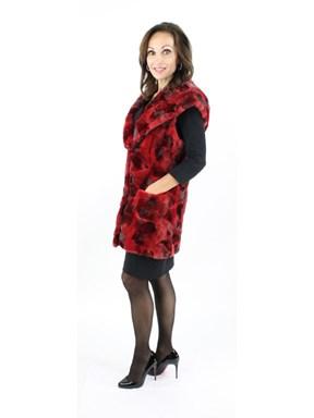 Mink Fur Sheared Section Vest