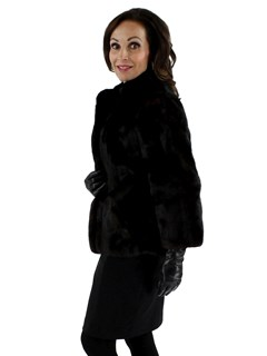 Vintage Dark Mahogany Mink Jacket