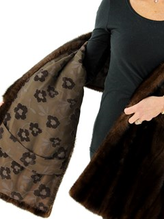 Woman's Mahogany Female Mink Fur Stole