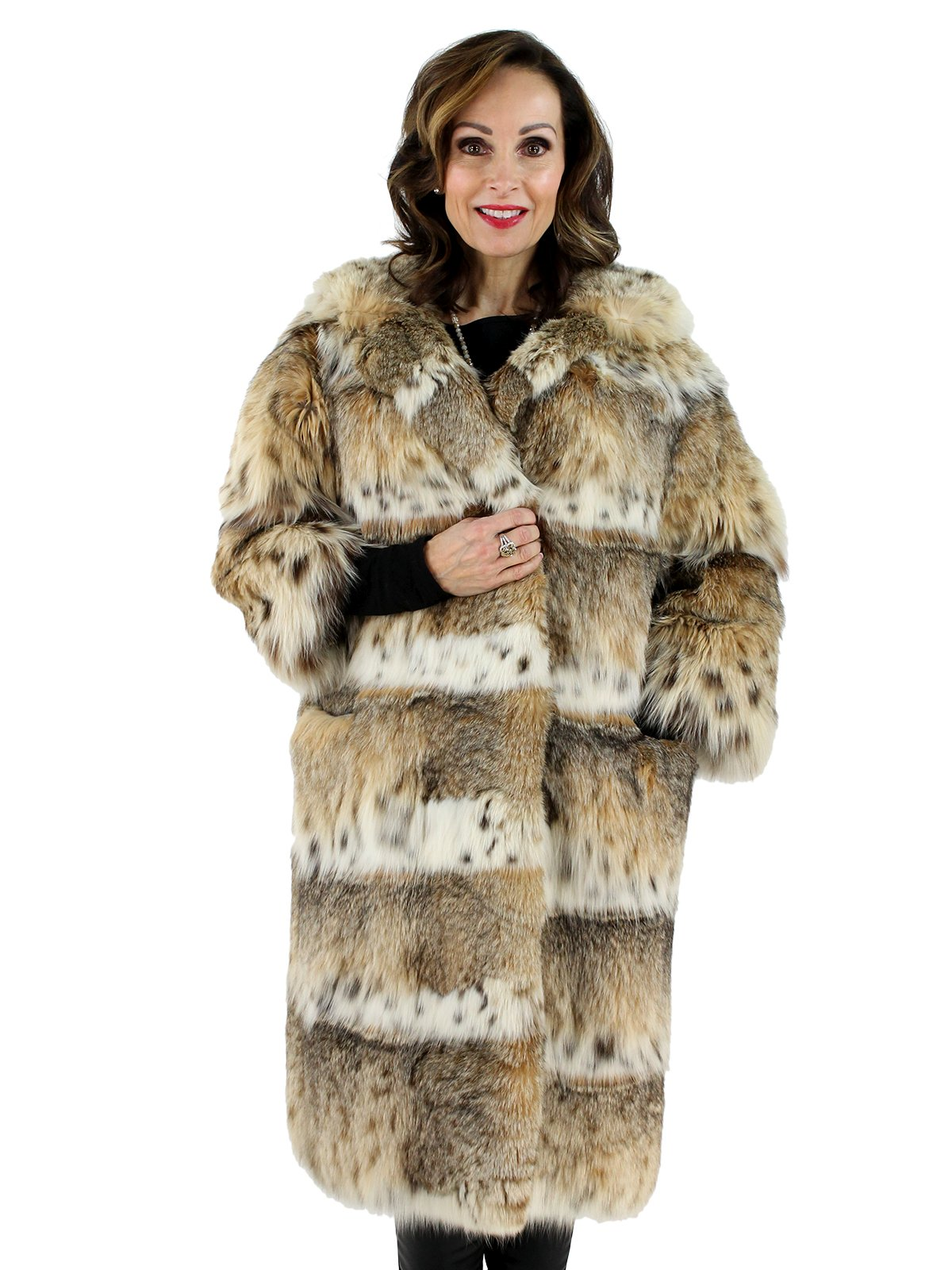 Cat Lynx Fur Coat