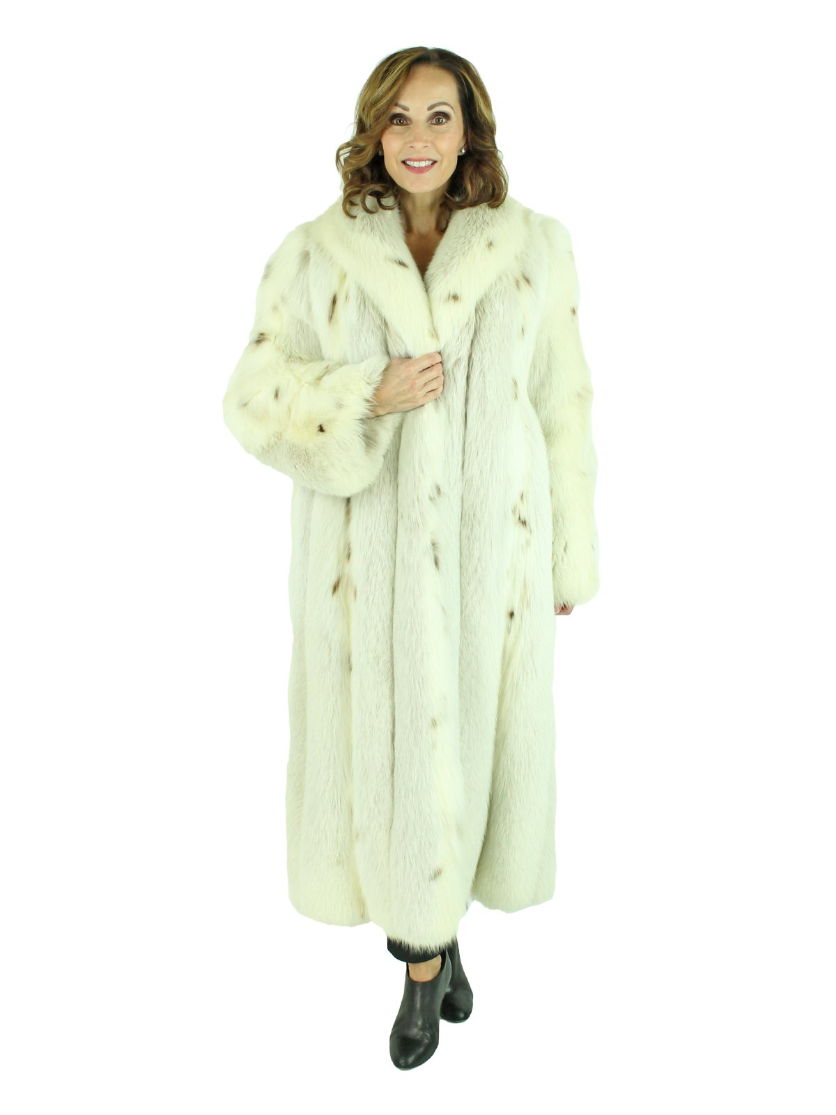 Woman's Lynx Dyed Fox Fur Coat