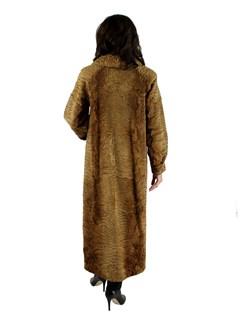 Woman's Whiskey Swakara Fur Coat