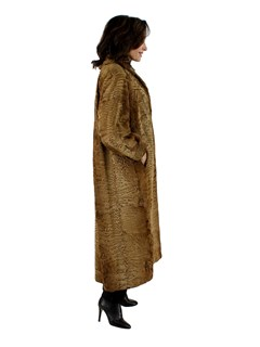 Woman's Whiskey Swakara Fur Coat