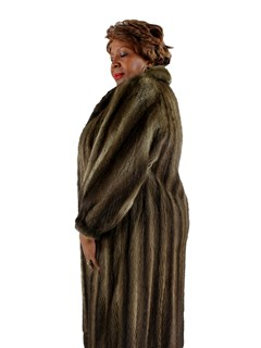 Woman's Natural Muskrat Fur Coat