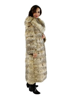 Woman's Natural Lynx Fur Coat
