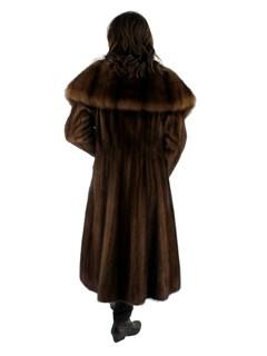 Lunaraine Mink Coat with Sable Collar