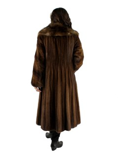 Lunaraine Female Mink Coat with Large Sable Collar