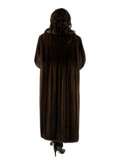 Mahogany Female Mink Fur Coat